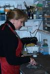 Adele in her workshop