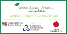 Des International Green Gown Awards Lauréats
