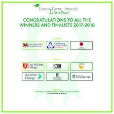 International Green Gown Awards Community Winners